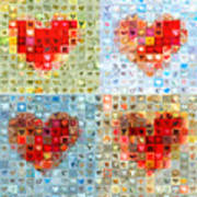 Katrina's Heart Wall - Custom Design Created For Extreme Makeover Home Edition On Abc Print by Boy Sees Hearts