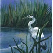 Keeper Of The Pond II Print by Shirley Lawing
