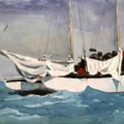 Key West Hauling Print by Winslow Homer