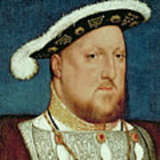 King Henry Viii Print by Hans Holbein the Younger