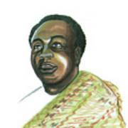 Kwame Nkrumah Print by Emmanuel Baliyanga