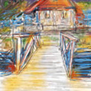 Lake House Print by Russell Pierce