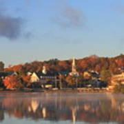 Lake Winnipesaukee Meredith Autumn Morning Print by John Burk