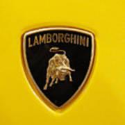 Lamborghini Logo Print by Sydney Alvares