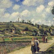 Landscape Near Pontoise Print by Camille Pissarro