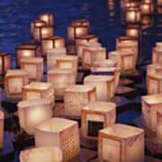 Lantern Floating Ceremony Print by Brandon Tabiolo - Printscapes