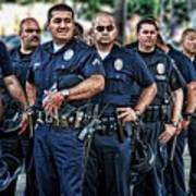 Lapd Safeguarding Lives Print by Chris Yarzab