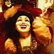 Laughing Gypsy Print by Deborah MacQuarrie