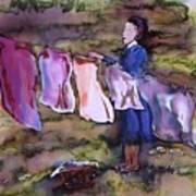 Laundry Day Print by Carolyn Doe