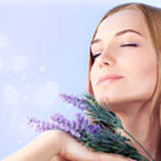 Lavender Spa Aromatherapy  Print by Anna Omelchenko