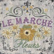 Le Marche Aux Fleurs 1 Print by Debbie DeWitt