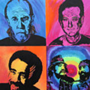 Legends Of Laughter Print by Bill Manson