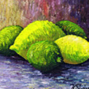 Lemons And Limes Print by Kamil Swiatek
