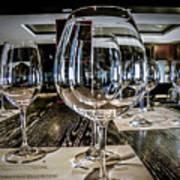 Let The Wine Tasting Begin Print by Julie Palencia