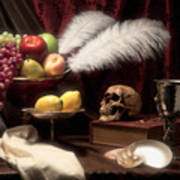 Life And Death In Still Life Print by Tom Mc Nemar