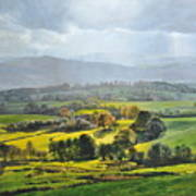 Light In The Valley At Rhug. Print by Harry Robertson