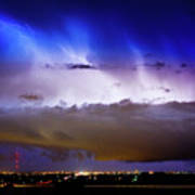 Lightning Thunder Head Cloud Burst Boulder County Colorado Im39 Print by James BO  Insogna