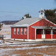 Lil Red School House Print by Robert Sander