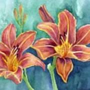 Lilies Print by Eleonora Perlic