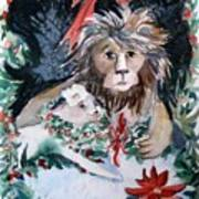 Lion And Lamb Print by Mindy Newman