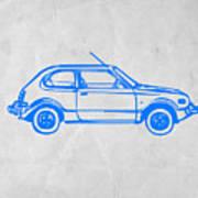 Little Car Print by Naxart Studio