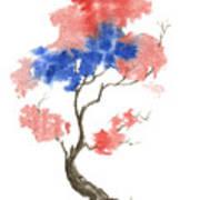 Little Zen Tree 291 Print by Sean Seal