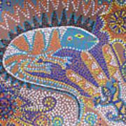 Lizard Dreaming Print by Vijay Sharon Govender