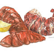 Lobster Tail And Meat Print by Dominic White
