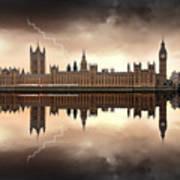 London - The Houses Of Parliament  Print by Jaroslaw Grudzinski