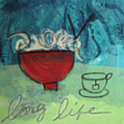 Long Life Noodles Print by Linda Woods
