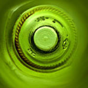 Looking Deep Into The Bottle Print by Frank Tschakert