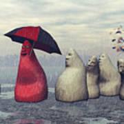 Lousy Weather Print by Jutta Maria Pusl