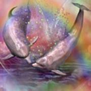 Love Bubbles Print by Carol Cavalaris