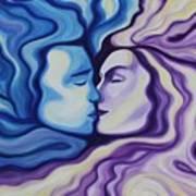 Lovers In Eternal Kiss Print by Jindra Noewi