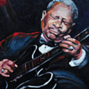 Lovin Lucille B B King Print by Carole Foret