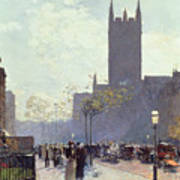Lower Fifth Avenue Print by Childe Hassam