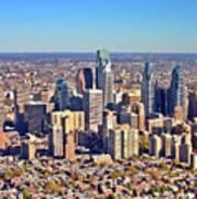 Lrg Format Aerial Philadelphia Skyline 226 W Rittenhouse Sq 100 Philadelphia Pa 19103 5738 Print by Duncan Pearson