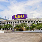 Lsu Tiger Stadium Print by Scott Pellegrin