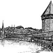 Lucerne Print by Frank SantAgata