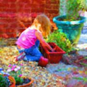 Lucys English Garden Print by Marilyn Sholin
