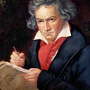 Ludwig Van Beethoven Composing His Missa Solemnis Print by Joseph Carl Stieler