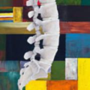 Lumbar Spine Print by Sara Young