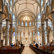 Lunchtime Mass At Saint Paul Cathedral Pittsburgh Pa Print by Amy Cicconi