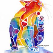 Luv Cat Print by Jo Lynch