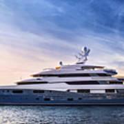 Luxury Yacht Print by Elena Elisseeva