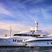 Luxury Yachts Print by Elena Elisseeva
