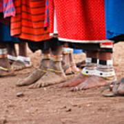 Maasai Feet Print by Adam Romanowicz