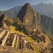 Machu Picchu At Dawn Near Cuzco Peru Print by Colin Monteath