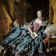 Madame De Pompadour Print by Francois Boucher