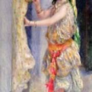 Mademoiselle Fleury In Algerian Costume Print by Pierre Auguste Renoir